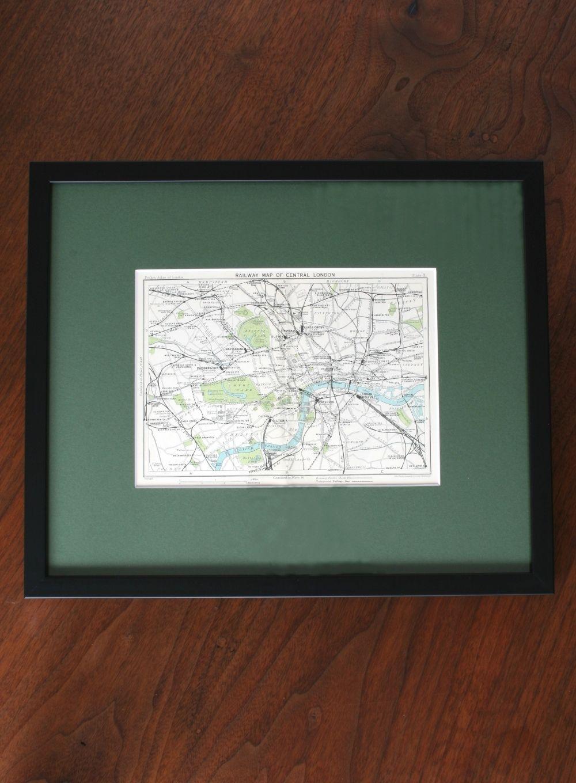 アンティーク版画 Railway Map of Central London
